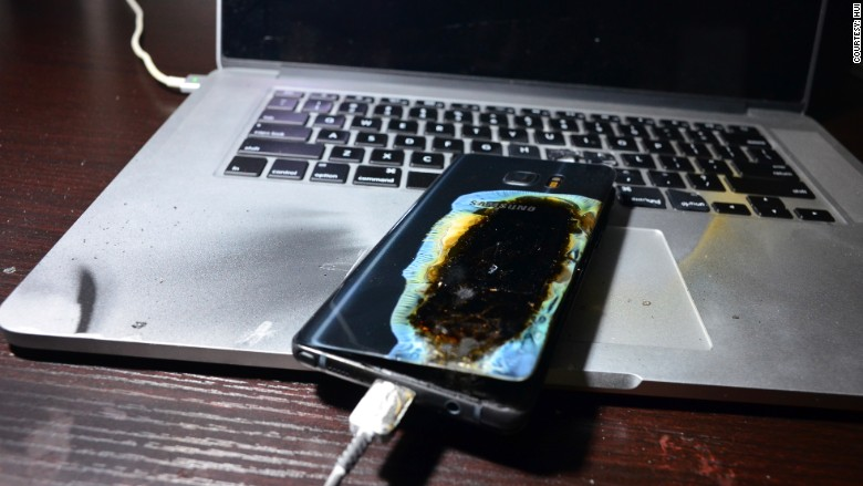 note 7 still catches fire