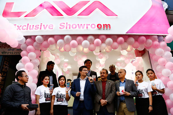 Lava inaugurates its exclusive showroom in New Road, Kathmandu