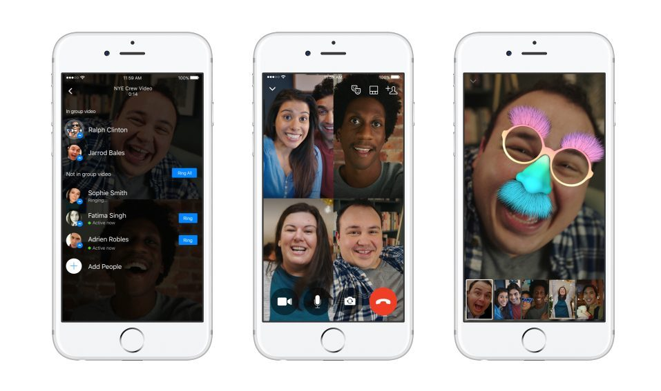 group video calls now available on facebook messenger