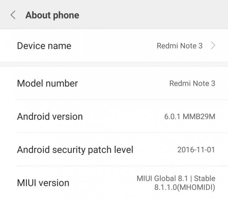 android 6.0.1 marshmallow rolls out for redmi note 3