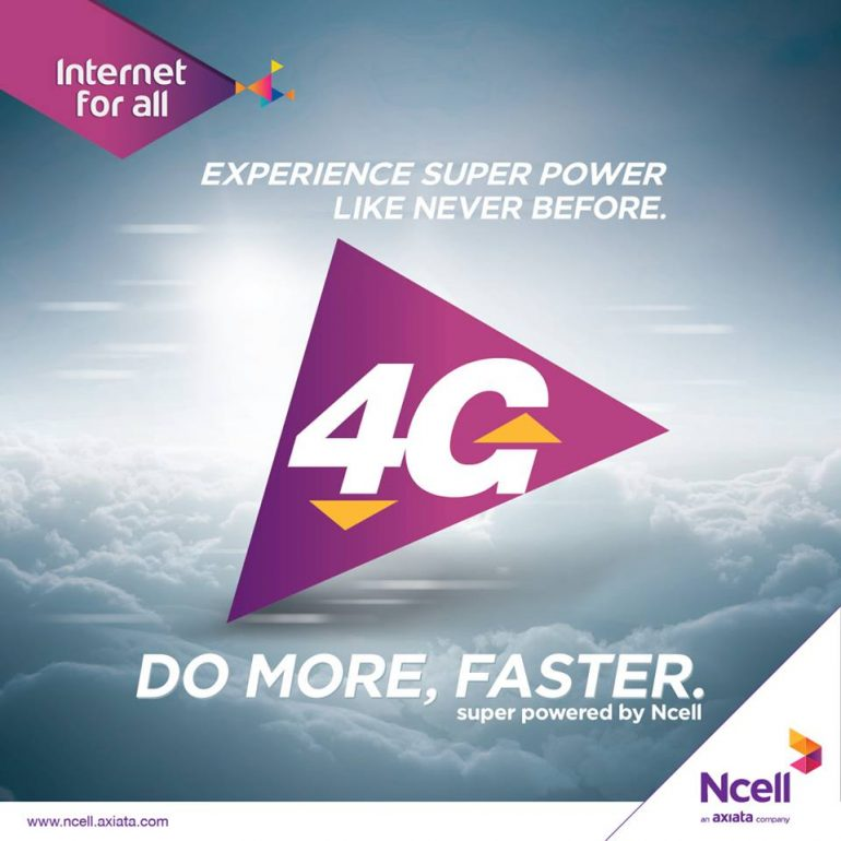 ncell introduces 4g in nepal
