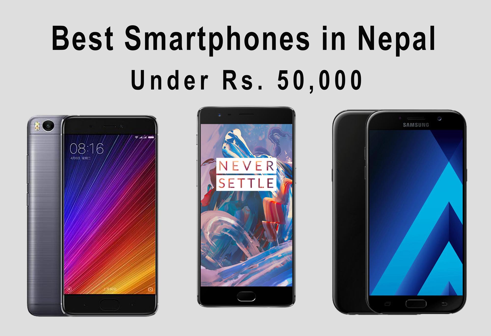 smartphone under rs. 50,000 in nepal