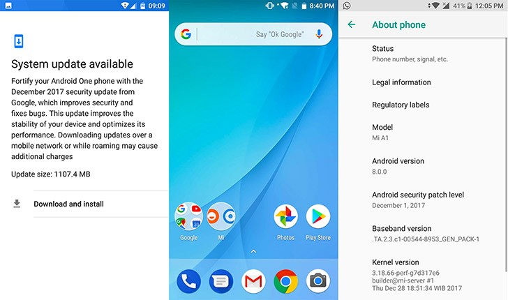 Xiaomi Mi A1 receives Android Oreo update