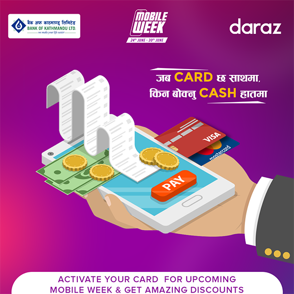 Get further discounts on Daraz Mobile Week by using your credit/debit card