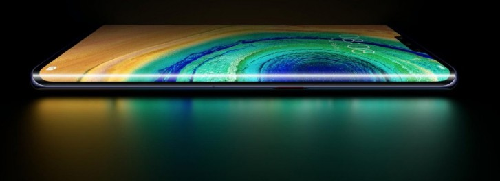 The curved screen on Mate 30 Pro