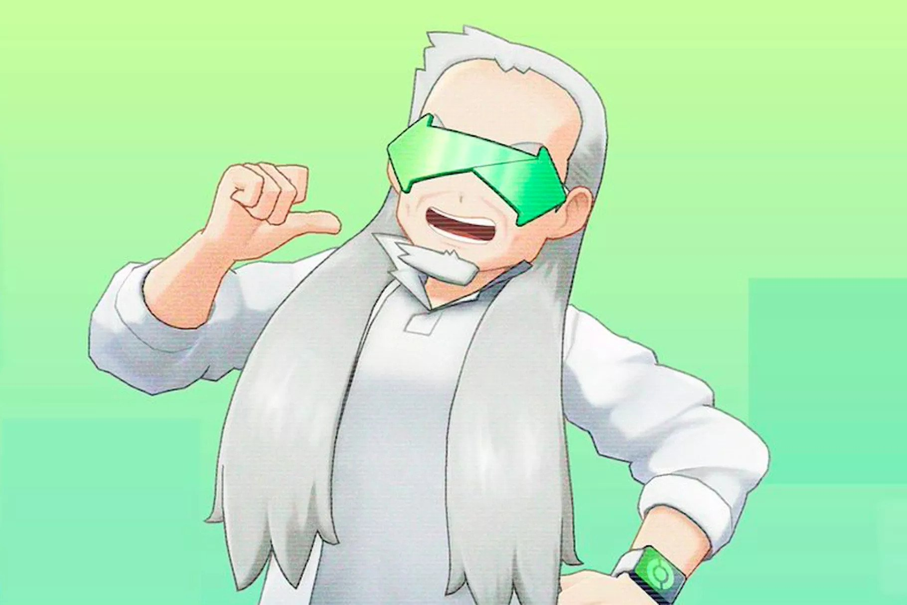 A new Professor Oak in Pokemon Home